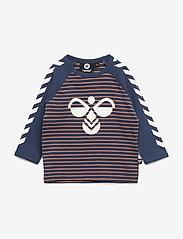 Hummel - hmlTONY T-SHIRT L/S - long-sleeved t-shirts - apricot buff - 0