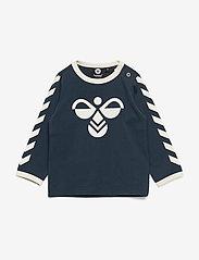 Hummel - hmlFLIPPER T-SHIRT L/S - long-sleeved t-shirts - blue nights - 0