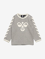 Hummel - hmlFLIPPER T-SHIRT L/S - long-sleeved t-shirts - grey melange - 0