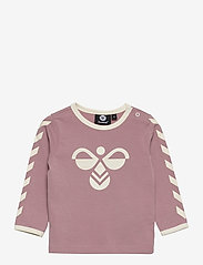 Hummel - hmlFLIPPER T-SHIRT L/S - long-sleeved t-shirts - woodrose - 0