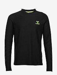 Hummel - hmlJAREL T-SHIRT L/S - langarmshirts - black - 0