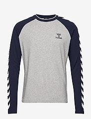 Hummel - hmlMARK T-SHIRT L/S - bluzki z długim rękawem - grey melange - 0