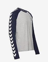 Hummel - hmlMARK T-SHIRT L/S - bluzki z długim rękawem - grey melange - 2