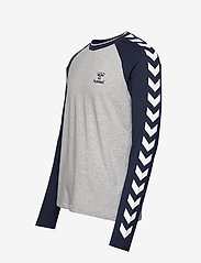 Hummel - hmlMARK T-SHIRT L/S - bluzki z długim rękawem - grey melange - 3