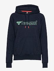 Hummel - hmlNONI HOODIE - hupparit - black iris - 0