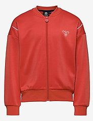 Hummel - hmlMADISON ZIP JACKET - sweatshirts - chili - 0