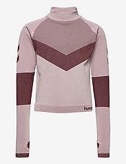 Hummel - hmlKITH SEAMLESS T-SHIRT L/S - long-sleeved t-shirts - deauville mauve - 0