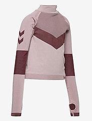 Hummel - hmlKITH SEAMLESS T-SHIRT L/S - long-sleeved t-shirts - deauville mauve - 3