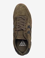 Hummel - HB TEAM SUEDE - laag sneakers - dark green - 3