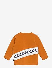 Hummel - hmlCLEMENT T-SHIRT L/S - long-sleeved t-shirts - pumpkin spice - 1