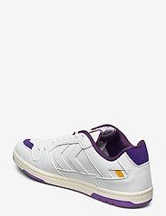 Hummel - POWER PLAY VEGAN ARCHIVE - laag sneakers - white/dahlia purple/geranium - 2