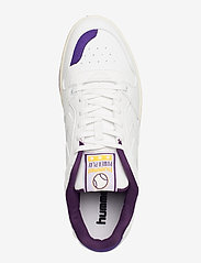 Hummel - POWER PLAY VEGAN ARCHIVE - laag sneakers - white/dahlia purple/geranium - 3