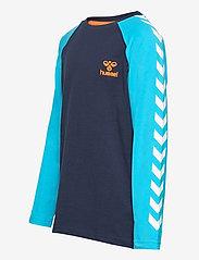 Hummel - hmlMICHAEL T-SHIRT L/S - long-sleeved t-shirts - scuba blue - 2