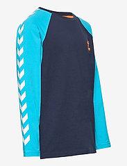 Hummel - hmlMICHAEL T-SHIRT L/S - long-sleeved t-shirts - scuba blue - 3
