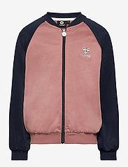 Hummel - hmlLINE ZIP JACKET - sweatshirts - black iris - 0
