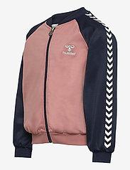 Hummel - hmlLINE ZIP JACKET - sweatshirts - black iris - 2