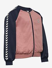 Hummel - hmlLINE ZIP JACKET - sweatshirts - black iris - 3