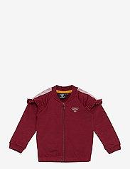 Hummel - hmlBLESS ZIP JACKET - sweatshirts - cabernet - 0
