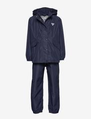Hummel - hmlREVA RAINSUIT - outerwear - black iris - 0