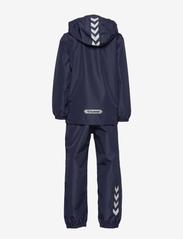 Hummel - hmlREVA RAINSUIT - outerwear - black iris - 3