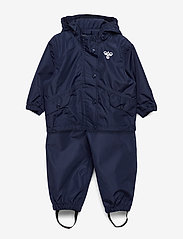 Hummel - hmlREVA RAINSUIT MINI - ensembles - black iris - 0