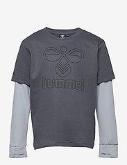 Hummel - hmlMALTE T-SHIRT L/S - long-sleeved t-shirts - ombre blue - 0