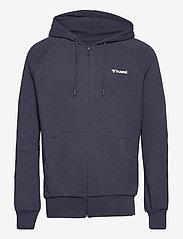Hummel - hmlISAM ZIP HOODIE - hoodies - blue nights - 0