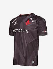 Hummel - ASTRALIS 20/21 GAME JERSEY S/S - football shirts - black w/logo - 2