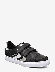 Hummel - HUMMEL STADIL JR LEATHER LOW - sneakers - black/white/grey - 0
