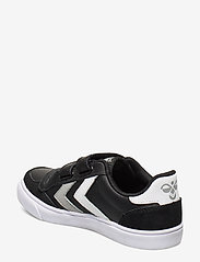 Hummel - HUMMEL STADIL JR LEATHER LOW - baskets - black/white/grey - 2