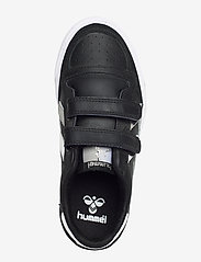 Hummel - HUMMEL STADIL JR LEATHER LOW - baskets - black/white/grey - 3