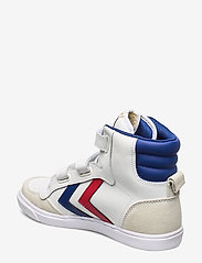 Hummel - HUMMEL STADIL JR LEATHER HIGH - sneakers - white/blue/red/gum - 2