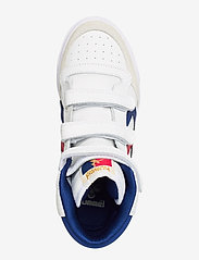 Hummel - HUMMEL STADIL JR LEATHER HIGH - sneakers - white/blue/red/gum - 3