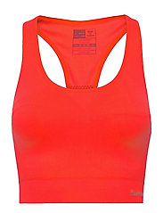SUE SEAMLESS SPORTS TOP - FIERY CORAL