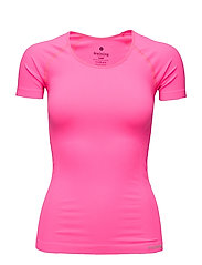 SUE SEAMLESS SS TEE - KNOCKOUT PINK