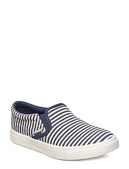 SLIP-ON STRIPES JR - PEACOAT
