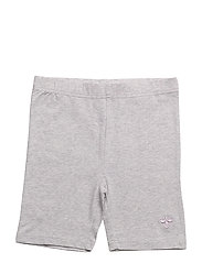 HMLHANNAH HOTPANTS - LIGHT GREY MELANGE
