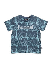 HMLWILLIAM T-SHIRT S/S - MILKY BLUE
