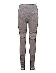 HMLFAY SEAMLESS TIGHTS - EBONY/CHERRY BLOSSOM
