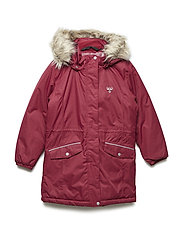 HMLAGNES COAT - RUMBA RED
