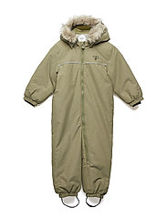 HMLPLAY SNOW SUIT - BURNT OLIVE