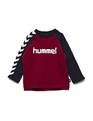 HMLRYAN T-SHIRT L/S - RUMBA RED