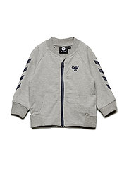 HMLKIM ZIP JACKET - GREY MELANGE