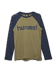 HMLLUKAS T-SHIRT L/S - BURNT OLIVE