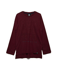 HMLEDWIN T-SHIRT L/S - RUMBA RED