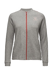 HMLBELL ZIP JACKET - GREY MELANGE