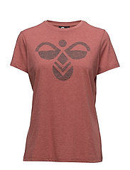 HMLFAUNA T-SHIRT S/S - MINERAL RED