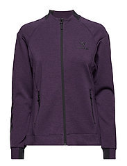 HMLCLIO ZIP JACKET - BLACKBERRY CORDIAL MELANGE
