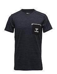 HMLDALI T-SHIRT SS - DRESS BLUE MELANGE