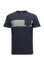 HMLFINN T-SHIRT S/S - DRESS BLUE MELANGE